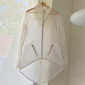 Unique Lululemon Lab Clear Hi-Lo Rain Jacket